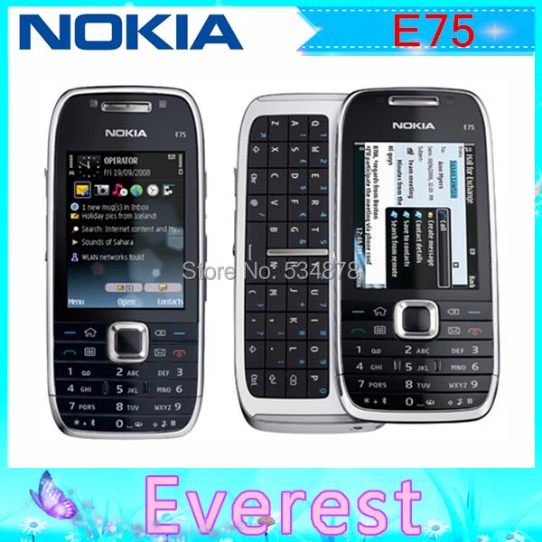 Original Nokia E75 WIFI GPS 3G 3.2MP Unlocked Mobile Phone Russian keyboard(China (Mainland))