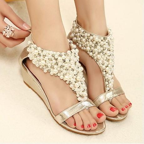 rhinestone zipper pearl beaded high heels gold black