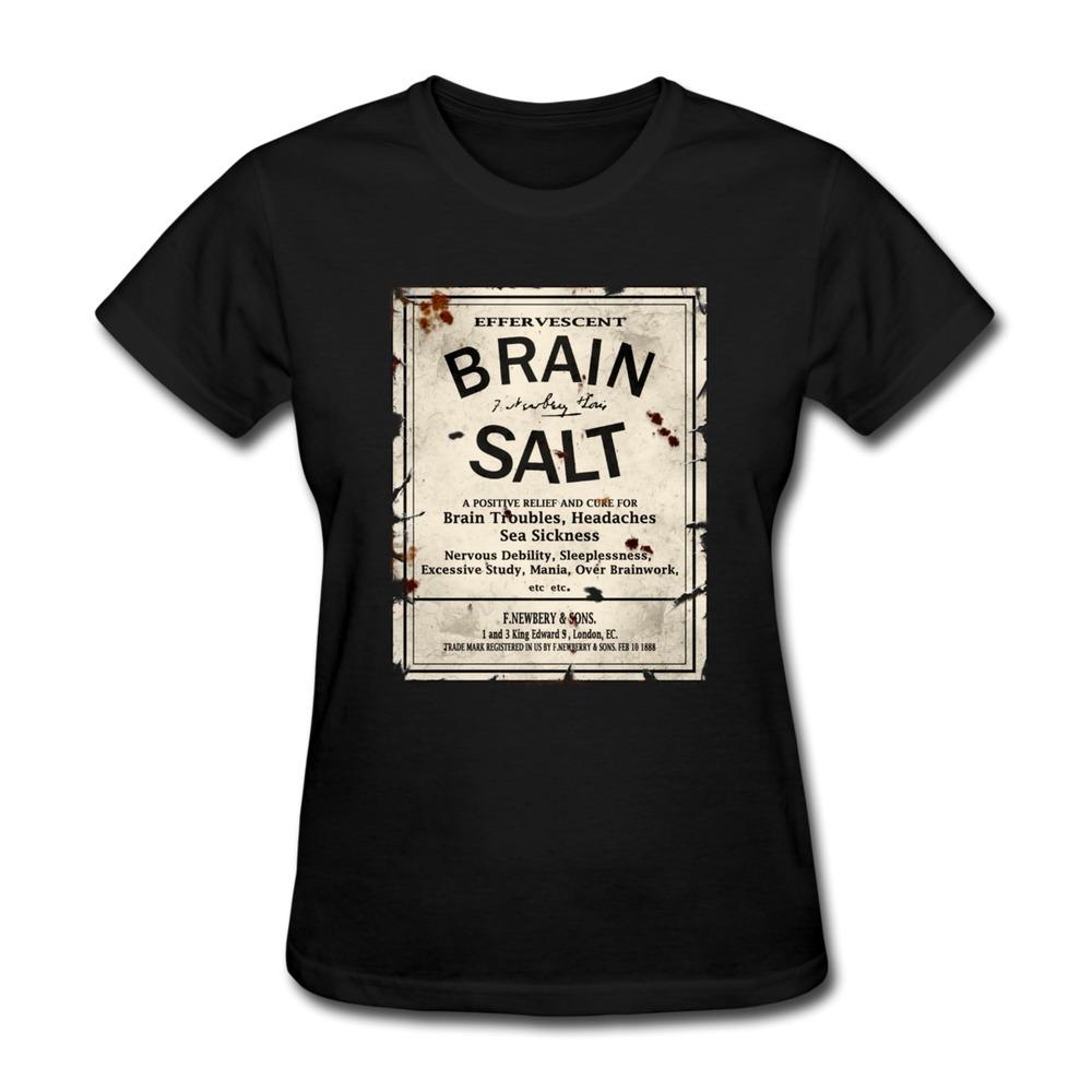 Womans T Shirt Pre-Cotton Brain Salt Printing Women T Shirts 2014 Style(China (Mainland))