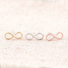 2015 New Fashion Hot Gold Silver Rose Gold unique eternity infinity earrings for Women ED005