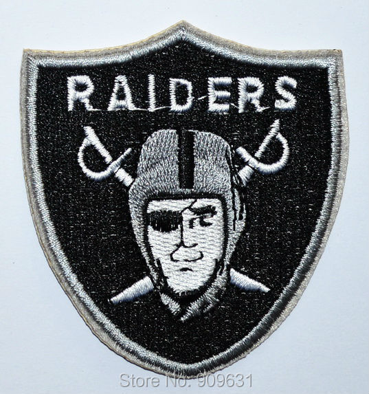 Oakland Raiders logo Sword embroidered Iron on Patch Shirt Bag Cap NFL(China (Mainland))