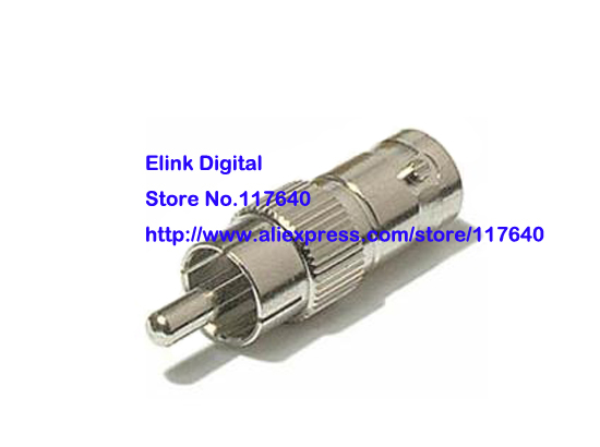 Free Shipping/10PCS/ BNC female To RCA male connectors Nickel BNC RCA New(China (Mainland))