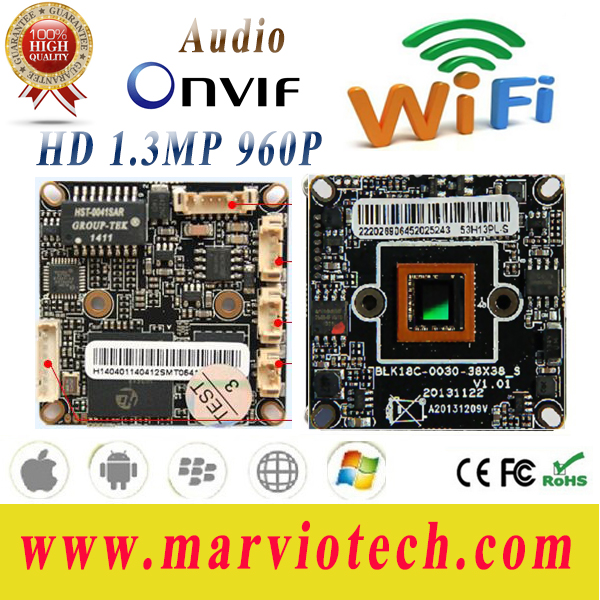 Sony IMX322/IMX222 Sensor Full HD 1080P 2MP IP Camera CCTV Board with Audio and Wifi Extention Good Night Vision + tail cable(China (Mainland))