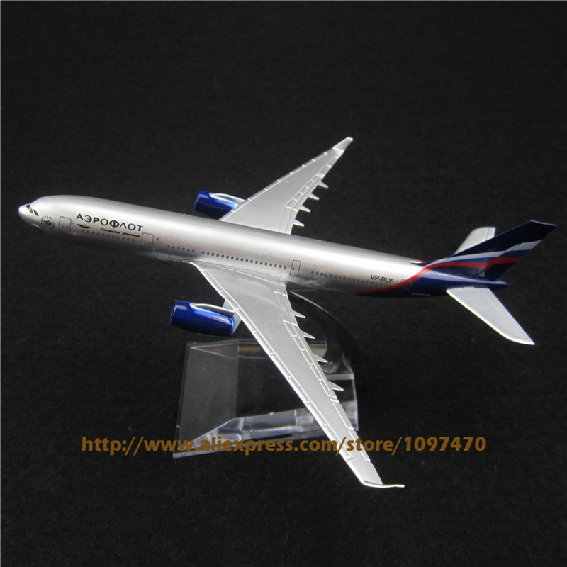 16cm Metal Alloy Plane Model Air Aeroflot Russian Airlines Airbus 330 A330 Airways Airplane Model w Stand Aircraft Toy Gift(China (Mainland))