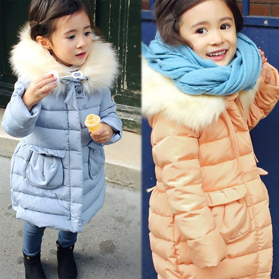 Warm Thick Girls Clothing Hooded Solid Childrens Jacket For Girls 3-10 Years Girls Parka Baby Girls Winter Coat Kids Outerwear<br><br>Aliexpress