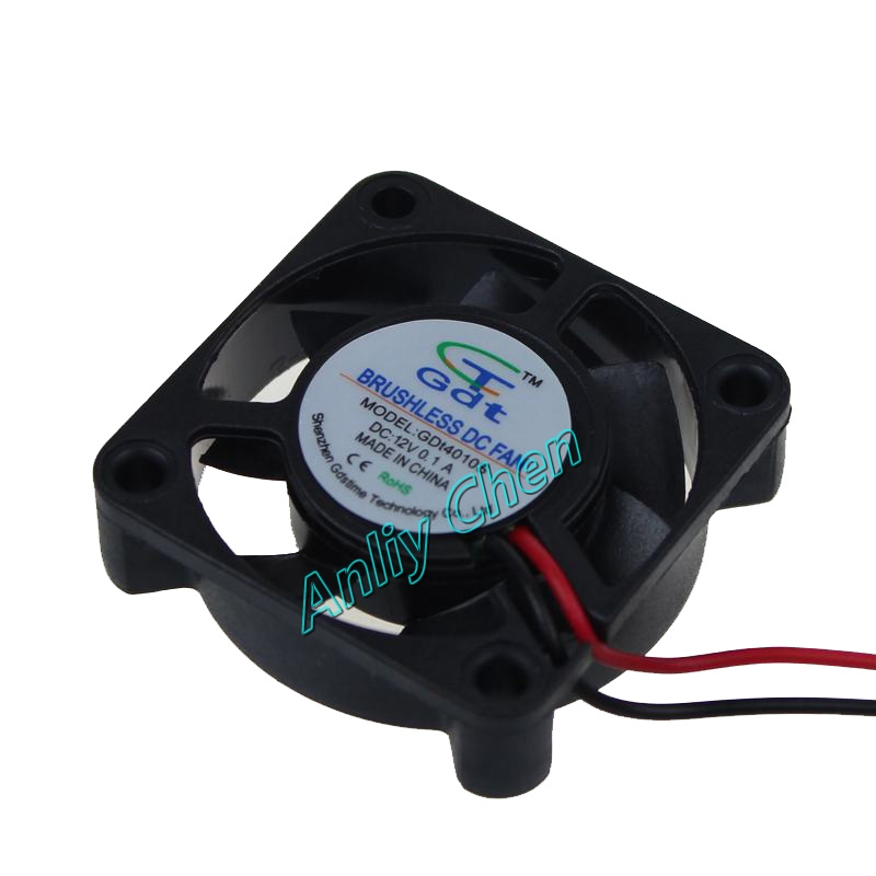 10PCS LOT Cooler 40 x 40 x 10mm 4010s DC 2Pin 12V 40mm Computer Cooling Fan(China (Mainland))