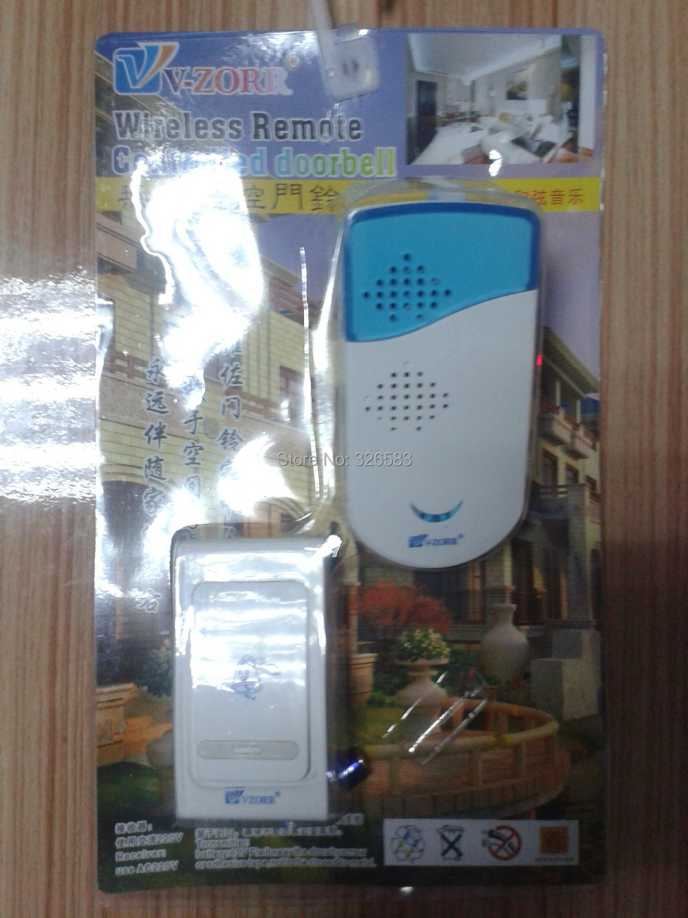 Wholesale - Wireless Doorbell Door Bell Remote Control Digital 38 Songs V004A Mainly White 315MHz Some Products don't have Logo(China (Mainland))