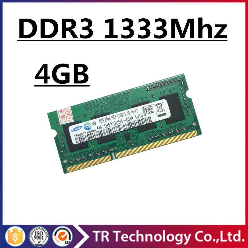 Sale ddr3 ram 4gb 1333mhz pc3-10600 so-dimm laptop, ddr3 memory 4gb 1333mhz pc3 10600 notebook, memoria ram ddr3 4gb 1333 mhz(China (Mainland))