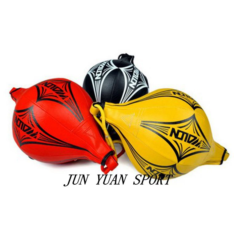 High quality!New Double End MMA Boxing Training Punching Bag Speedball Speed Ball Red/Black/Yellow,Free shipping!