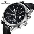 PAGANI DESIGN Wrist Watch New Men s Fashion Casual Leather Strap and Stainless Steel Strap Business