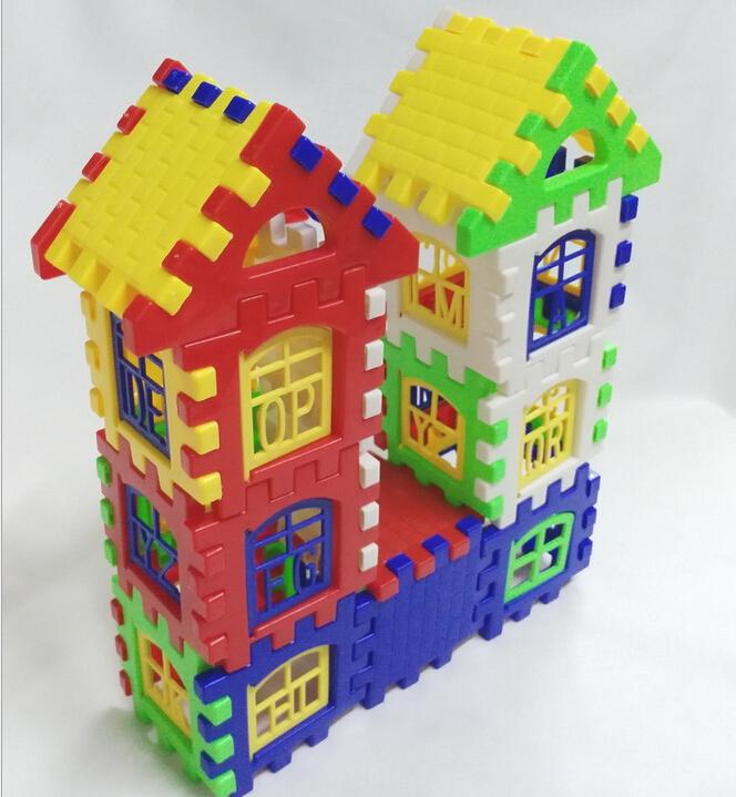 New Brand Hot Sale Baby Kid Children House Building Blocks Construction Developmental Toy Set Brain Game(China (Mainland))
