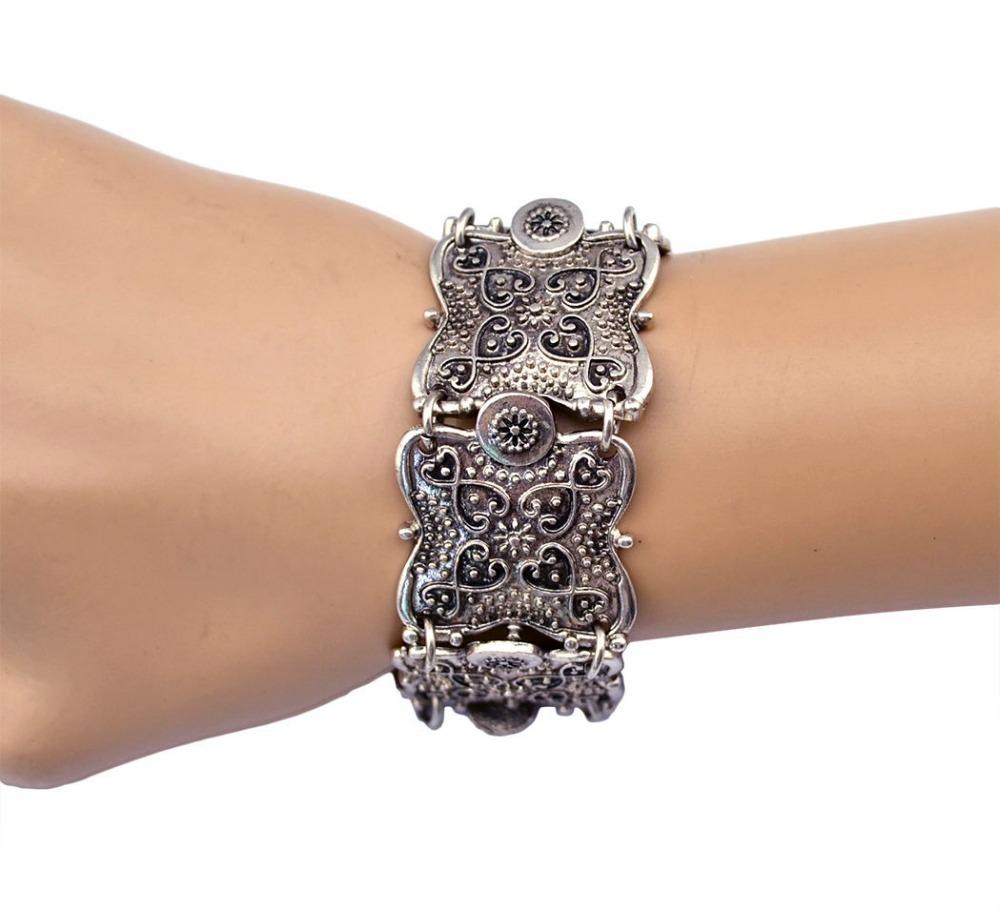 Gypsy Bohemian Jewelry Antique Silver Butterfly Bracelets for Women Punk Vintage Jewelry Metal Ethnic Bracelets &amp; Bangles<br><br>Aliexpress