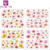 KADS Wholesale BOP Series 263 Different Design 1000pcs/set Water DecalL Nail Art Nail Tattos Stickers + Individually Packaging