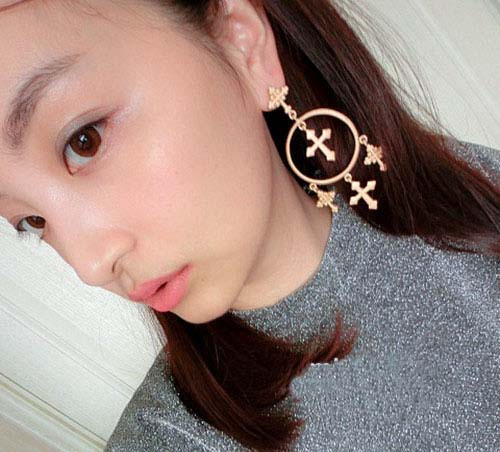 New Arrived! Earring Vintage Ear Ring Palace Gift Fashion Jewelry Earrings Beautiful Earrings High Quality Cross Earrings(China (Mainland))