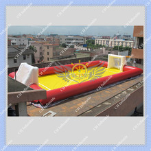 Hot 12m Long red Inflatable Football Field, Soccer Field Free Shipping Good Quality(China (Mainland))