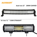 Auxmart Cree Chips dual triple row LED Light Bar 22 12 offroad combo beam bar light