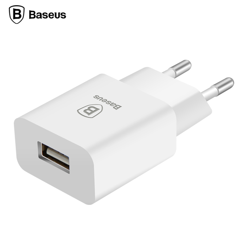 Baseus EU Plug 5V2A Travel USB Charger Fast Charging Adapter Wall Phone Charger For iPhone 6 6s Samsung s7 Note7 HTC Vive Tablet(China (Mainland))