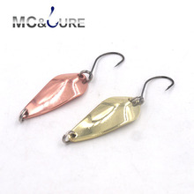 MCLURE  2pcs/lot 3g 30mm Spinner Spoon Fishing Lure Metal Lures  Hard Baits Single hook(China (Mainland))