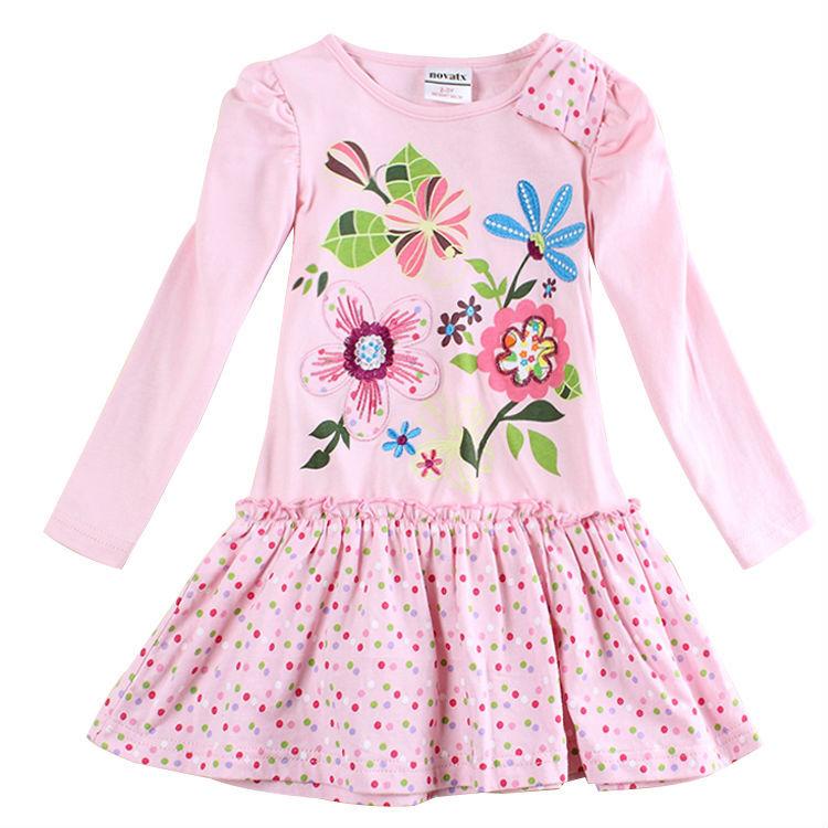 retail novatx Girl dress kids baby girl clothes for baby girl party dress fashion kids Dress for girls children clothing(China (Mainland))