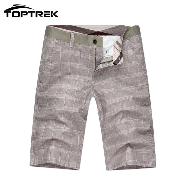 Верхtrek бренд одежды регулярный плед мужчины свободного покроя белье короткие брюки ...