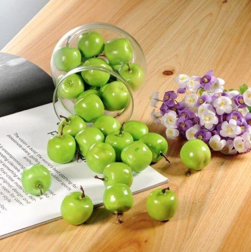 200 mini fake artificial green apples fruit house party - Green apple kitchen decor ...