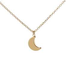 Buy Min 1pc 2016 New Fashion Jewelry Necklace Simple Crescent Moon Necklace Plain Half Moon Pendant Necklaces Women Gifts XL187 for $1.41 in AliExpress store