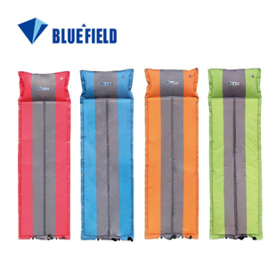Blue patchwork thickening ultra-light automatic inflatable cushion moisture-proof pad camping mat outdoor cushions - Knife Friend store