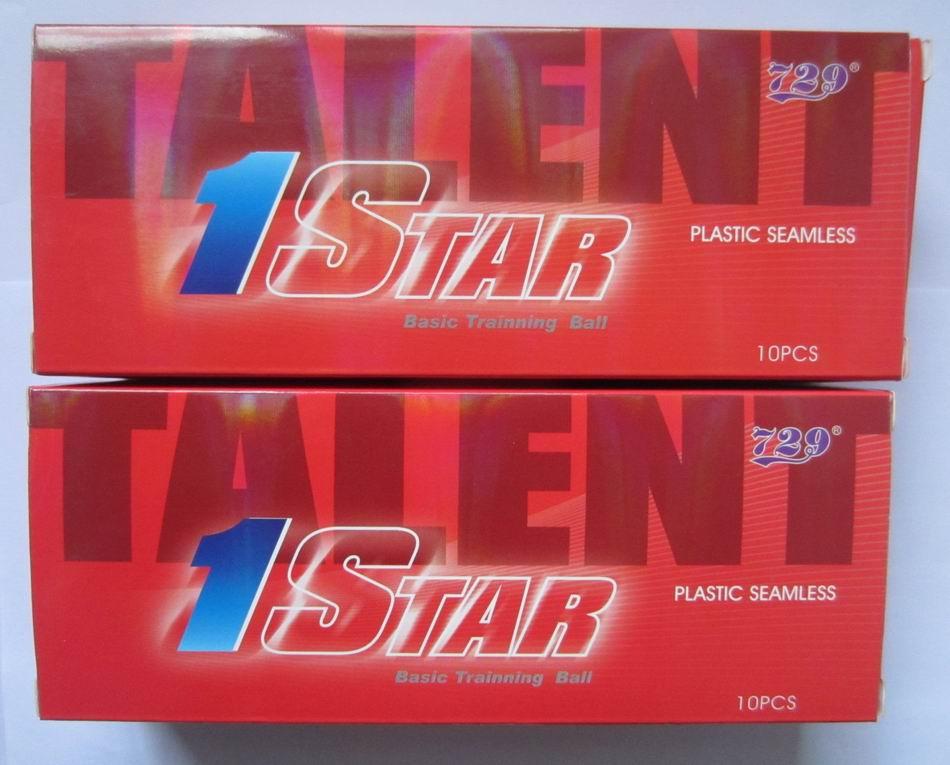 Original 729 1star table tennis ball 40+ new material wholesales 20balls for table tennis racket blade game ping pong balls(China (Mainland))