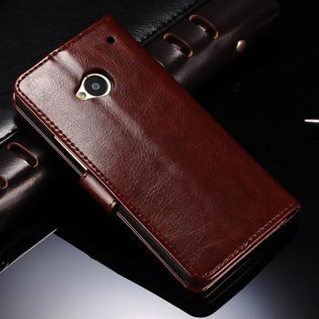 Etui dla HTC One M7 Flip Case styl retro | skórzane z miejscem na karty