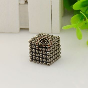 D3 Size: 3mm 216pcs/set With Metal Box Black Color Buckyball Neo Cube Magnetic Balls Neocube Neodymium Magnet