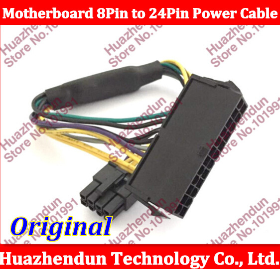 30CM ATX 24Pin to 8 pin D-ELL 3020 7020 9020 Server Motherboard 8Pin Male to 24PIN Female Adapter 18AWG Power Cable Cord <br><br>Aliexpress
