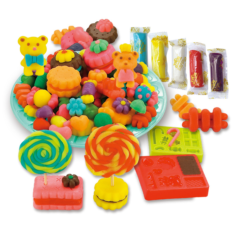 Children plasticine 3D color mud breakfast mold tool kit toys for children creative modeling clay color mud DIY fancy sugar(China (Mainland))