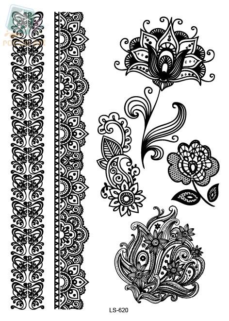 Sticker Totem Mandala Flower Tattoo Design Body Art For Women Tatuagem