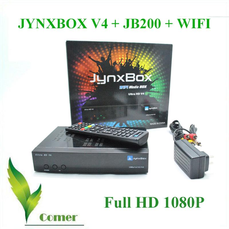 Full HD FTA(Free To Air) Digital Satellite Receiver Jynxbox Ultra hd v4 support Tuner JB200 and wifi jynxbox v4 HD receiver(China (Mainland))