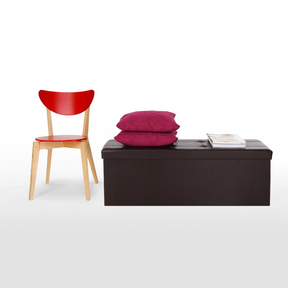 Organizer Folding Faux Leather Storage Ottoman Sofa Foot Rest Stool Pouffe Bed End Bench Foldable Storage Box IKAYAA(China (Mainland))