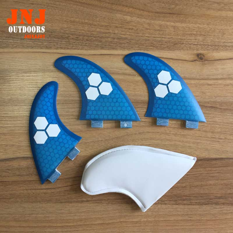 FREE shipping fiberglass and honeycomb blue FCS M G5 surfboard fin thruster FCS fin future fin FCS G5 fins(China (Mainland))