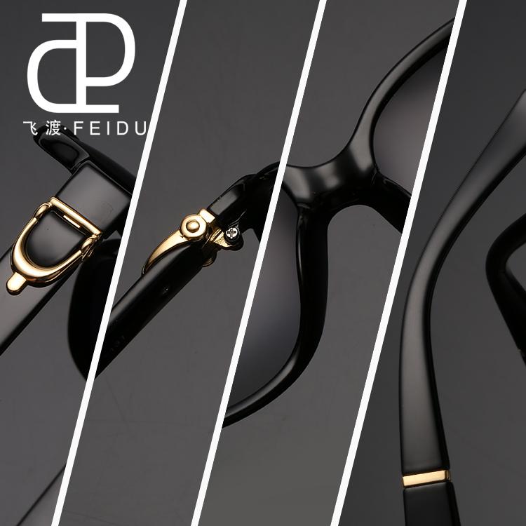 FEIDU Sunglasses Women Brand Original Designer Luxury Butterfly Pattern Points Women Retro Vintage Uv400 Oculos De