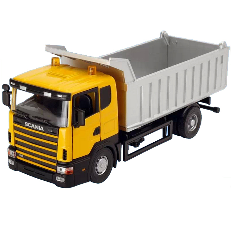 DIE CAST METAL 1/43 SCANIA TIPPER TRUCK MODEL TIPPING VEHICLE DUMP TRUCK REPLICA FREE SHIPPING(China (Mainland))