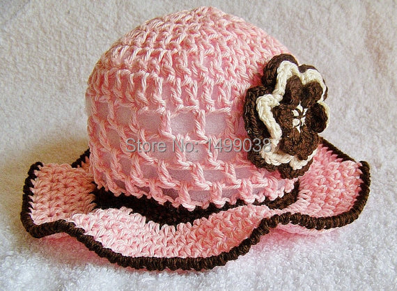 Toddler girl hat baby summer hat you pick the size for newborn photography props(China (Mainland))