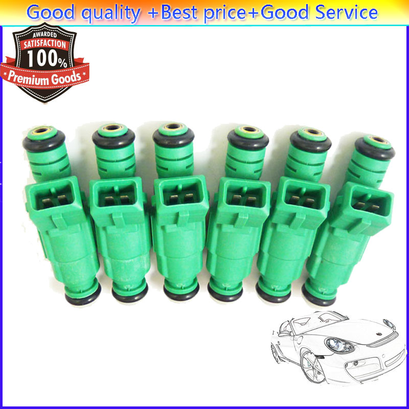 6 Pieces Flow Matched Fuel Injector 0280155968For Chevrolet Jeep Ford Audi VW Pontiac Buick Chrysler GMC BMW Dodge Mitsubishi(China (Mainland))