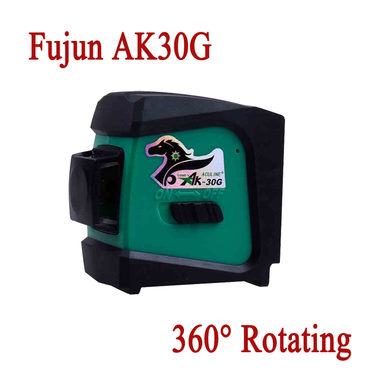 Fujun AK30G 360 degree self-leveling rotary 1V1H1D Green Laser levels gravity leveling Wall instrument <br><br>Aliexpress