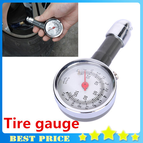 1pcs Auto Motor Car Truck Bike Tyre Tire Air Pressure Gauge Meter Vehicle Tester monitoring system diagnostic tool Free Shipping(China (Mainland))