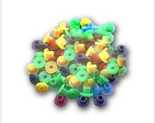 2014 new 100pcs  Tattoo Machine Needles Supplies Colorful Rubber Grommets Nipples Pack cheapest(China (Mainland))