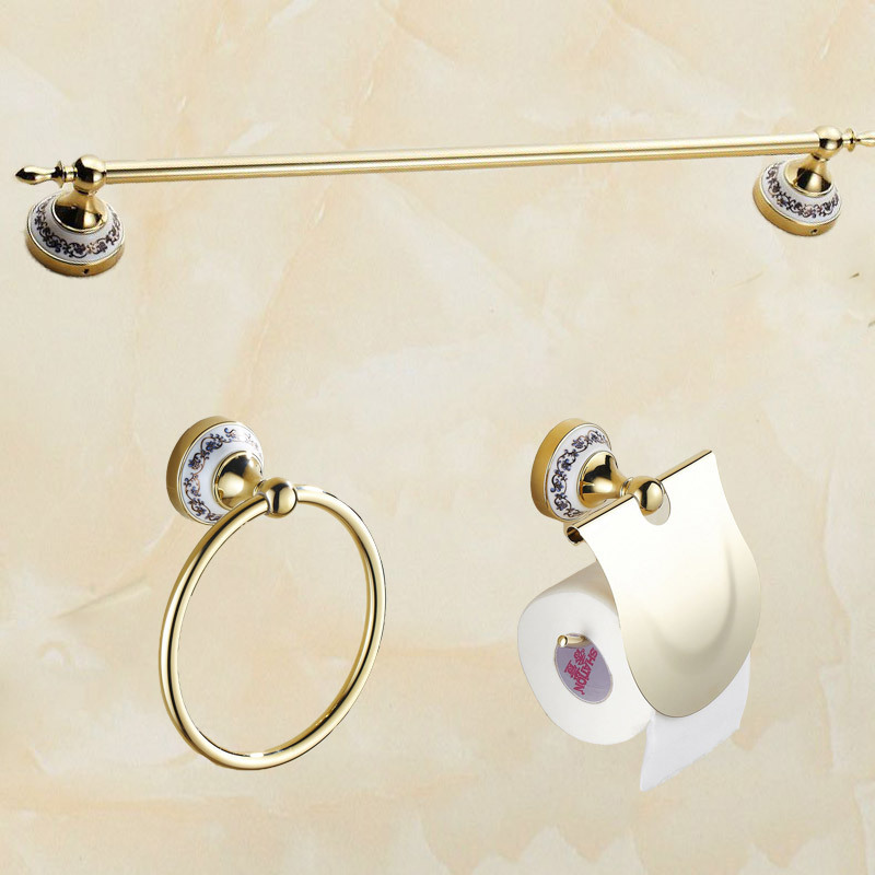 2015 Bathroom single Towel Bar towel Ring Toilet Paper Holder bathroom accessories bath hardware accessories(China (Mainland))