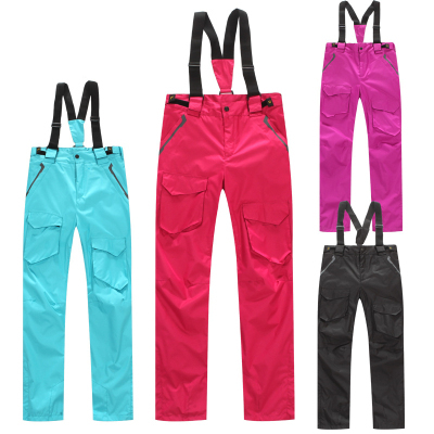 Colorful Waterproof Windproof Warm Skiing And Snowboard  Pants For Women Ski Pants Winter Snow Pants Women Outdoor Pockets Pants<br><br>Aliexpress