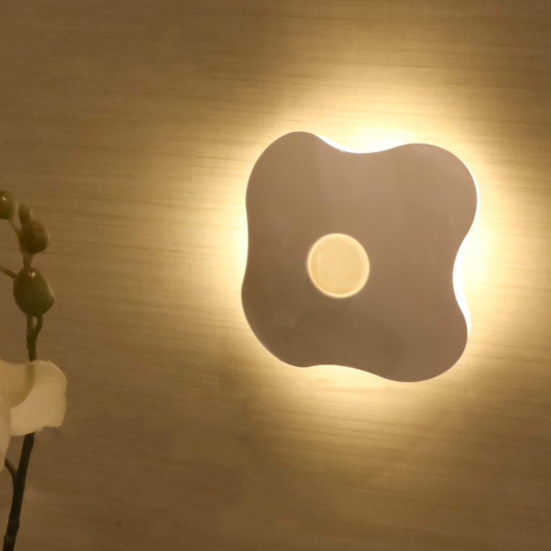 Q Human Body Induction Lamp LED Nightlight Charging Bedroom Bedside Lamps Intelligent Voice Controlled Aisle Wall Light(China (Mainland))