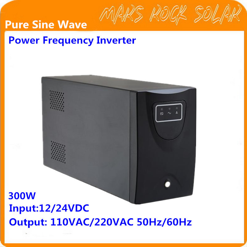 300W Pure Sine Wave Off Grid Inverter 12V/24VDC-220VAC 50Hz with City Grid Charge Function Single Phase Inverter<br>