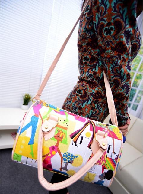 новые 2015 женские сумки Южной Кореи стиль женщин сумки женщин досуг моды плеча сумка печатные сумки дамы посланник