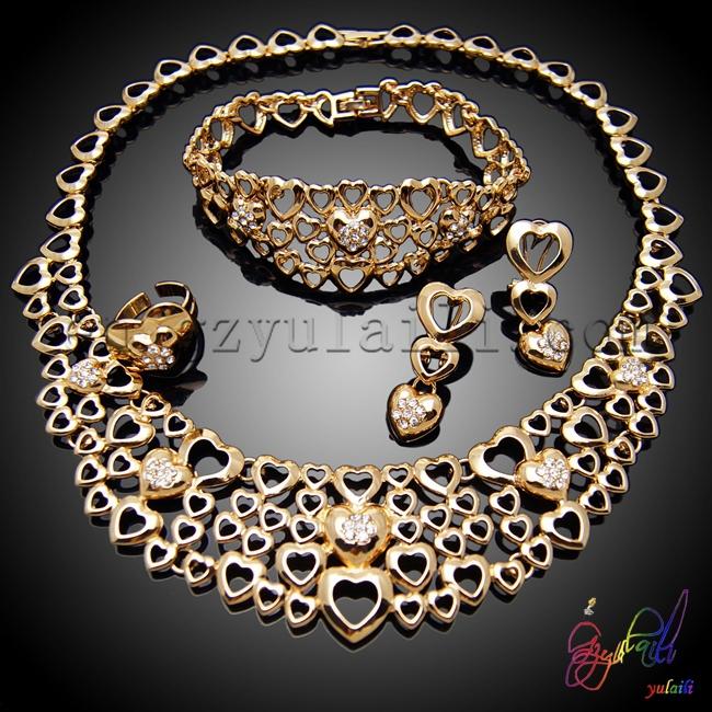 Free shipping cheap wedding jewelry sets victorian costume jewelry sets African bridal jewelry sets(China (Mainland))
