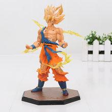 Dragon Ball Z Figura de Ação Vegeta Son Goku Triplo Kaiouken Kamehameha Batalha Ver. Dragonball Z Figura PVC Brinquedo(China)
